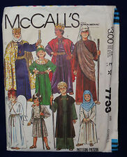 McCall's Costume Sewing Pattern 7733  Nativity Costume Halloween Costume G/B X-S