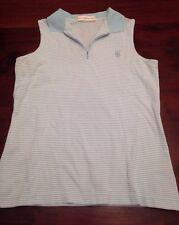 Fairway & Greene Medium Blue Vest Womens M Golf 1/4 Spring Summer