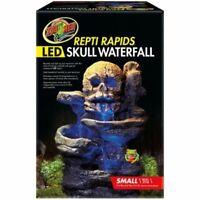 Zoo Med Repti Rapids LED Skull Rock Waterfall terrarium decor Size Small