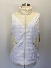 NWT  New Balance® for J.Crew $150 quilted vest Size L G7891 Snow White Fall 2017