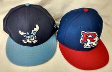 New Era Round Rock Express & Wilmington Blue Rocks Fitted Baseball Hat Cap 7 1/4