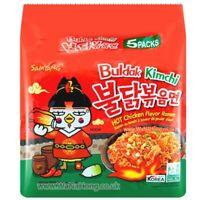 Samyang Spicy Hot Chicken Noodles Buldak Ramen - Kimchi Flavour (Pack of 5)