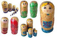 Matroschka Matrjoschka  XXL 25 cm 8 teilig Handarbeit Russische Puppe Babuschka
