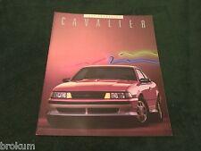 "MINT 1988 CHEVROLET CHEVY CAVALIER SALES BROCHURE BI-FOLD 11"" X 9"" NEW (BOX 739)"