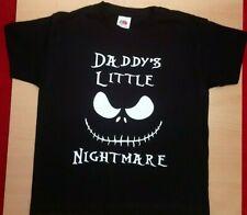 "NIGHTMARE BEFORE CHRISTMAS INSPIRED ""DADDY'S LITTLE NIGHTMARE"" KIDS T-SHIRT, BRA"