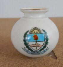 Crested Ware W.H Goss Vase Argentina Crest Model of Vase in silchester Museum