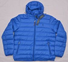 $198 New Medium M POLO RALPH LAUREN Mens packable puffer down jacket coat Blue