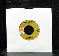"Jan Davis - Boss Machine / Fugitive VG 7"" Vinyl 45 Record 1964 A&M 733"