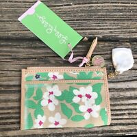Lilly Pulitzer PB Green Trust Fund Wallet ID Case Key Chain Zip Coin Purse NWT