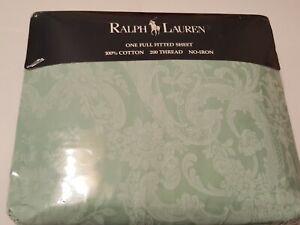 Ralph Lauren ~ Avery Green Full Fitted Sheet New
