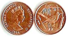 100 (One Hundred) Cayman Islands 1 Cent Coins Uncirculated KM87a, Cayman Thrush