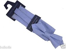 BRAND NEW Tommy Hilfiger Mens Bow Tie Chambray Blue Pocket Square Set adjustable