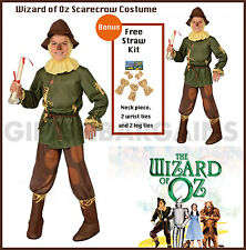 Wizard of Oz Scarecrow Costume Child Boy S:Medium FREE 5Pc Straw Kit Bookweek
