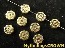 100PCS Antiqued gold Aztec Round Flat spacer bead FC185
