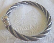 Silver & Black Copper Bracelet
