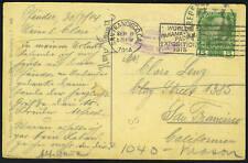 "AUSTRIA/U.S. 1914 HOTEL PPC FORWARDED ""WORLD'S PANAMA"
