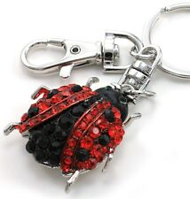 Red Black Spot Ladybug Bug Animal Lover Jewelry Car Keychain Key Ring Charm Gift