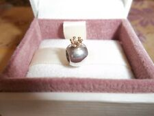 Genuine Authentic Pandora Silver & 14ct Gold King's Crown Charm 790122