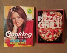 Cook Book Lot of 2 Cooking Round The Clock Rachael Ray & Pizza on the Grill