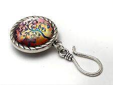 Handmade Magnetic Portuguese Knitting Pin- ID Badge Holder- Periwinkle Tree