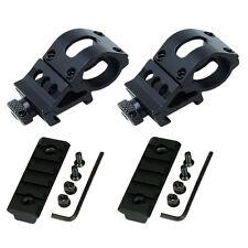 "4PC-1"" 1in Offset Scope Ring w/ 20mm QD Rail Mount & Keymod 2"" 2in Rail Section"