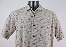 Woolrich Fishing Lures Flies Men's Short Sleeve Shirt Size M