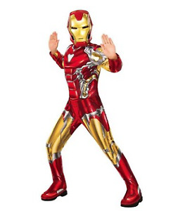 Iron Man Avengers Endgame Child Halloween Costume Jumpsuit and Mask Small 4-6