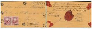 G) 1879 PERU, FRANKED BY PAIR OF 1878 20 C. CARMINE TIED HUANCUACA CD'S FLOWER S
