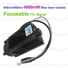 Focusable 445nm/450nm 4000mW/4W blue laser module TTL 12V DIY CNC engraving
