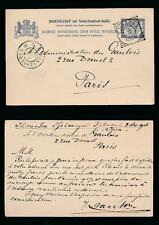 JAVA TJIBADAK 1906 STATIONERY CARD NETHERLANDS INDIES to FRANCE