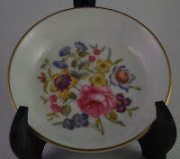 Royal Worcester Fine Bone China Trinket Pin Dish Flowers Design size 4""