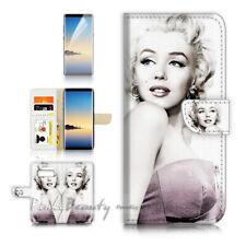 ( For Samsung S10 ) Wallet Flip Case Cover P21616 Marilyn Monroe