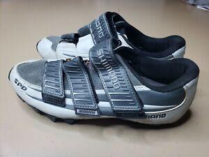 Shimano SPD Bike Cycling Shoes Mens 7 eur 40  Gray black