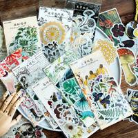 60Pc Paper Sticker DIY Photo Scrapbooking Calendar Diary Planner Plants Stickers
