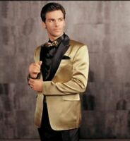 Men's Gold Wedding Groom Suits Tuxedos Prom Party Dinner Blazers Suits Formal