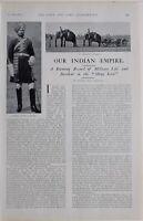 1901 Stampa Indiano Empire Elefante Batteria Ceylon Volontari Urugasmanhandiya