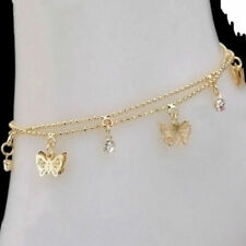 Anklet Bracelet Foot Jewelry Sandal Beach Women Charm Gold Butterfly Ankle Chain