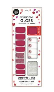 Dashing Diva Gloss Ultra Shine Gel Nail Strips 34 Strips Valentine's Day