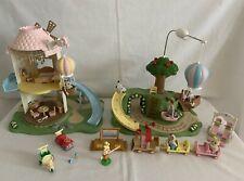 Sylvanian Families  Primrose Baby Windmill + Park ~ Choo Train + 6 Babies Bundle