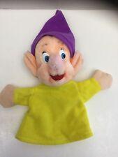 Vintage Dopey Disney World Snow White Seven Dwarfs Hand Puppet DISNEYLAND Plush