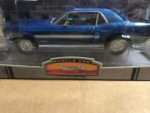Greenlight - 1968 Mustang GT Blue California Special 1:18