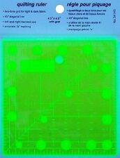 """Amarillo Antideslizante 4.5""""x4.5"""" regla Patchwork & Quilting igual que Omnigrid"""