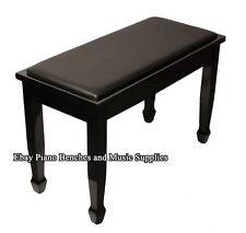Yamaha Piano Bench Black High Gloss Finish - Ebony - Padded Bench