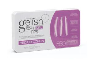 Gelish Soft Gel Tips - Medium Coffin 550ct #1168098