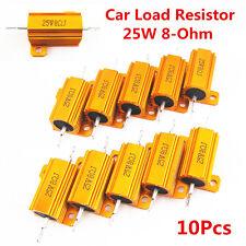 10x Auto LED Bulb Turn Signal Load Resistor 25W 8-Ohm Fix Error Fast Flash Blink