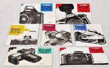 Canon fotocamere lotto di 7 manuali d'uso tutti in italiano E655