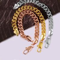 "Men's 8.5"" Gold Stainless Steel 9mm Miami Cuban-Curb Bracelet + Box"