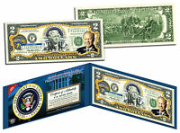 GERALD FORD * President 1974-1977 * Colorized $2 Bill US Genuine Legal Tender
