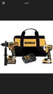 DeWalt DCK2100D1T1 20V MAX XR Impact Driver/Hammer Drill Driver Combo Kit New