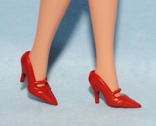 SO CLASSY! Red Closed Toe Mary Jane Style High Heels BARBIE Shoes
